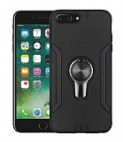 Eiroo Car Magnet iPhone 7 Plus / 8 Plus Ultra Koruma Siyah Kılıf