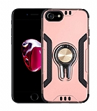 Eiroo Car Magnet iPhone SE 2020 Ultra Koruma Rose Gold Kılıf
