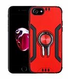 Eiroo Car Magnet iPhone SE 2020 Ultra Koruma Kırmızı Kılıf