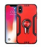 Eiroo Car Magnet iPhone X / XS Ultra Koruma Kırmızı Kılıf
