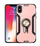 Eiroo Car Magnet iPhone X / XS Ultra Koruma Rose Gold Kılıf
