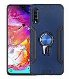 Eiroo Car Magnet Samsung Galaxy A70 Ultra Koruma Lacivert Kılıf