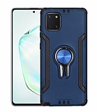 Eiroo Car Magnet Samsung Galaxy Note 10 Lite Ultra Koruma Lacivert Kılıf