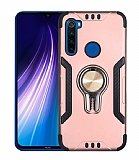 Eiroo Car Magnet Xiaomi Redmi Note 8 Ultra Koruma Rose Gold Kılıf