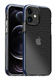 Eiroo Carbon Hybrid iPhone 11 Ultra Koruma Mavi Kılıf