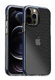 Eiroo Carbon Hybrid iPhone 11 Pro Ultra Koruma Mavi Kılıf
