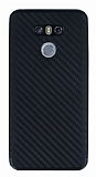 Eiroo Carbon Hybrid LG G6 Siyah Kenarlı Karbon Siyah Silikon Kılıf