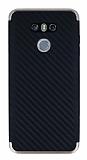 Eiroo Carbon Hybrid LG G6 Gold Kenarlı Karbon Siyah Silikon Kılıf