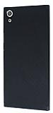 Eiroo Carbon Hybrid Sony Xperia XA Ultra Siyah Kenarlı Karbon Siyah Silikon Kılıf