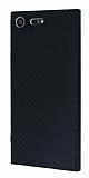 Eiroo Carbon Hybrid Sony Xperia XZ Premium Siyah Kenarlı Karbon Siyah Silikon Kılıf