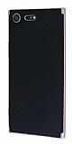 Eiroo Carbon Hybrid Sony Xperia XZ Premium Rose Gold Kenarlı Karbon Siyah Silikon Kılıf