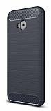 Eiroo Carbon Shield Asus ZenFone 4 Selfie ZD553KL Ultra Koruma Lacivert Kılıf