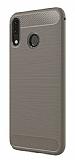 Eiroo Carbon Shield Asus ZenFone 5 ZE620KL / 5z ZS620KL Ultra Koruma Gri Kılıf