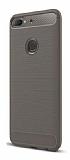 Eiroo Carbon Shield HTC Desire 12 Plus Ultra Koruma Dark Silver Kılıf
