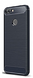Eiroo Carbon Shield Huawei P Smart Ultra Koruma Lacivert Kılıf