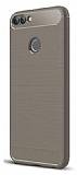 Eiroo Carbon Shield Huawei P Smart Ultra Koruma Gri Kılıf