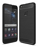 Eiroo Carbon Shield Huawei P10 Lite Ultra Koruma Siyah Kılıf