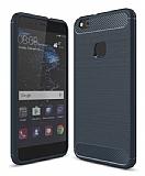 Eiroo Carbon Shield Huawei P10 Lite Ultra Koruma Lacivert Kılıf