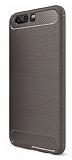 Eiroo Carbon Shield Huawei P10 Plus Ultra Koruma Gri Kılıf