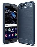 Eiroo Carbon Shield Huawei P10 Ultra Koruma Lacivert Kılıf
