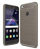 Eiroo Carbon Shield Huawei P9 Lite 2017 Ultra Koruma Dark Silver Kılıf