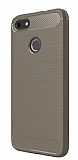 Eiroo Carbon Shield Huawei P9 Lite Mini Ultra Koruma Dark Silver Kılıf