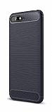 Eiroo Carbon Shield Huawei Y6 2018 Ultra Koruma Lacivert Kılıf