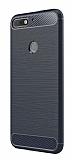 Eiroo Carbon Shield Huawei Y7 2018 Ultra Koruma Lacivert Kılıf