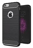 Eiroo Carbon Shield iPhone 6 Plus / 6S Plus Ultra Koruma Siyah Kılıf