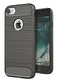 Eiroo Carbon Shield iPhone 7 Ultra Koruma Dark Silver Kılıf