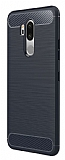 Eiroo Carbon Shield LG G7 ThinQ Ultra Koruma Lacivert Kılıf