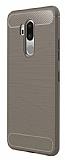 Eiroo Carbon Shield LG G7 ThinQ Ultra Koruma Gri Kılıf