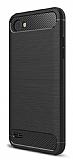 Eiroo Carbon Shield LG Q6 Ultra Koruma Siyah Kılıf