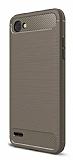 Eiroo Carbon Shield LG Q6 Ultra Koruma Dark Silver Kılıf