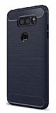 Eiroo Carbon Shield LG V30 Ultra Koruma Lacivert Kılıf