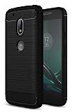 Eiroo Carbon Shield Motorola Moto G4 / G4 Plus Ultra Koruma Siyah Kılıf