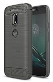 Eiroo Carbon Shield Motorola Moto G4 / G4 Plus Ultra Koruma Dark Silver Kılıf