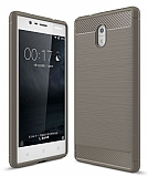 Eiroo Carbon Shield Nokia 3 Ultra Koruma Dark Silver Kılıf