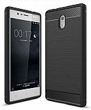 Eiroo Carbon Shield Nokia 3 Ultra Koruma Siyah Kılıf