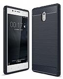 Eiroo Carbon Shield Nokia 3 Ultra Koruma Lacivert Kılıf