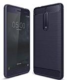 Eiroo Carbon Shield Nokia 5 Ultra Koruma Lacivert Kılıf