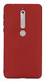 Nokia 6 2018 Mat Kırmızı Silikon Kılıf