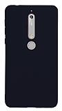 Nokia 6 2018 Mat Siyah Silikon Kılıf