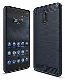 Eiroo Carbon Shield Nokia 6 Ultra Koruma Lacivert Kılıf