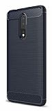 Eiroo Carbon Shield Nokia 8 Ultra Koruma Lacivert Kılıf