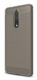 Eiroo Carbon Shield Nokia 8 Ultra Koruma Gri Kılıf