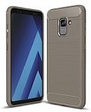 Eiroo Carbon Shield Samsung Galaxy A6 Plus 2018 Ultra Koruma Dark Silver Kılıf