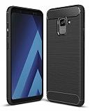 Eiroo Carbon Shield Samsung Galaxy A6 Plus 2018 Ultra Koruma Siyah Kılıf