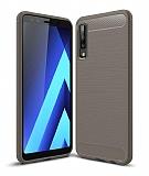 Eiroo Carbon Shield Samsung Galaxy A7 2018 Ultra Koruma Gri Kılıf
