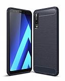 Eiroo Carbon Shield Samsung Galaxy A7 2018 Ultra Koruma Lacivert Kılıf